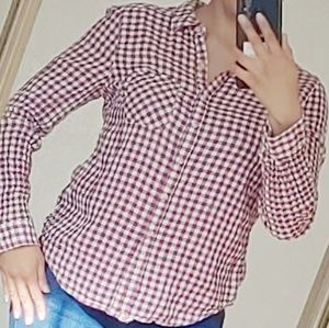 Maurices checkered long sleeve button shirt